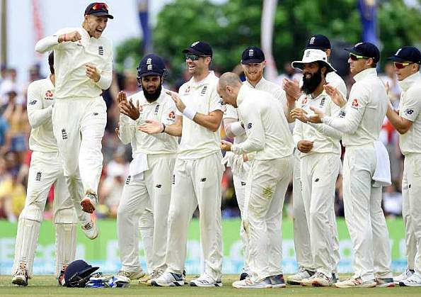England picked up three wickets in the first session.